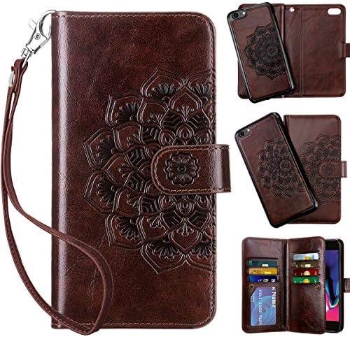 Vofolen 2 in 1 Case for iPhone 6S Plus Case iPhone 6 Plus Wallet Card Holder Detachable Flip product image