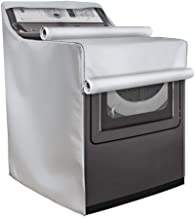 Mr.You Washer/Dryer Cover,Fit for Outdoor Top Load and Front Load Machine,Waterproof Dust-Proof Moderately Sunscreen,Suitable for Most Washers and Dryers on Market(W29D28H40in,Enhanced Silver)