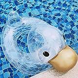 Eulbevoli Transparenter Schwimmring, Baby Schwimmring Float Sommer Wasserspiel Zubehör Sicherheitstier Schwimmring ID25cm für Planschbecken (unter Aufsicht von Erwachsenen)