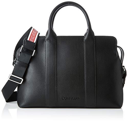 Calvin Klein - Race Tote, Bolsos totes Mujer, Negro (Black),...