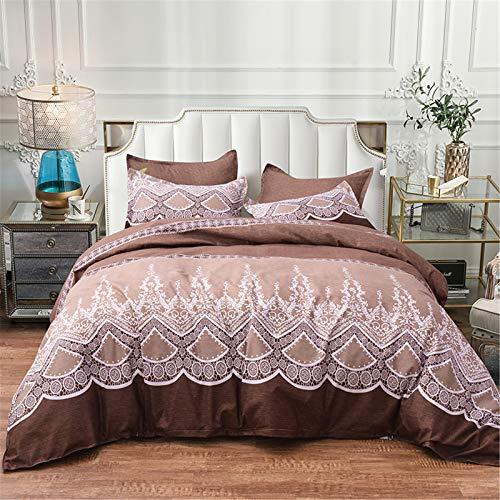 CCBAO Textiles para El Hogar De 3 Piezas Fundas Nórdicas Y Fundas De Almohada Frescas Y Hermosas Ambiente Simple Fácil De Limpiar 200x200cm
