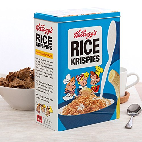 Retro cereales Metal lata almacenamiento caja con tapa: Amazon.es ...