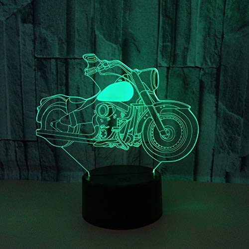 BFMBCHDJ Nueva lámpara 3D 7 colores motocicleta Led