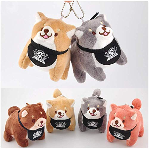 hzwh 10cm Chai dog cute small pendant Keji dog key ring plush toys filled with soft Japanese anime children's gift toys
