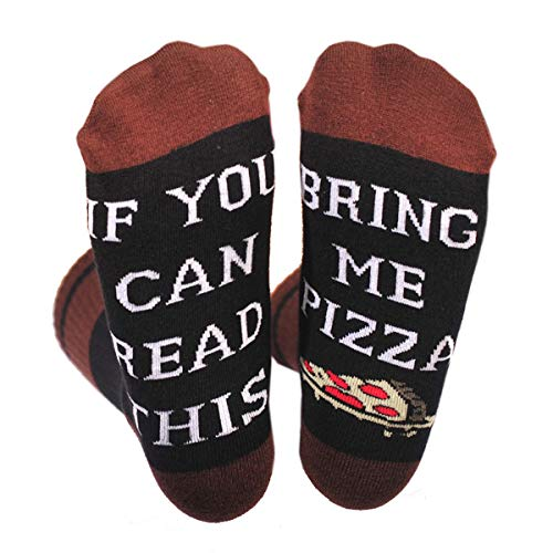 SherryDC If You Can Read This Bring Me Wine Beer Coffee Tacos Donut Funny Sayings Crew Socks
