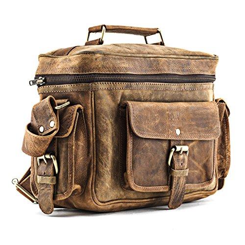 A.P. Donovan - Kameratasche aus Leder | Fototasche | Schultertasche | Umhängetasche für Fotozubehör (Büffelleder)