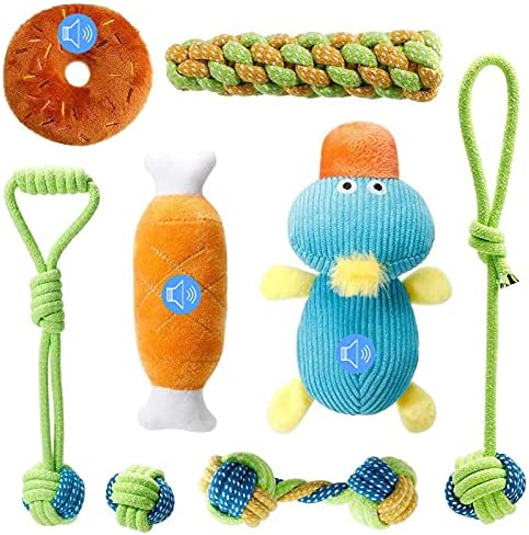 Homealexa Puppy Toys for Small Dogs with Squeak Puppy Toys from 8 Weeks Dog Toys, Soft Dog Toy Teething Training Puppy Chew Toy, Dog Chew Toy for Small Dogs, Toys for Boredom/Birthday Gifts