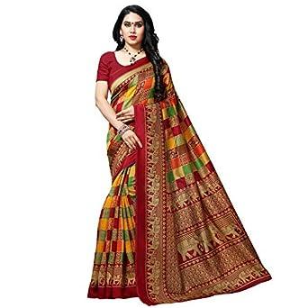 Kashvi sarees Women's Georgette Saree with Blouse Piece (1550_2_Multicoloured_One Size_Multicolour)
