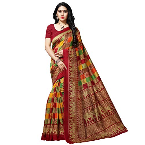 Kashvi sarees Georgette with Blouse Piece Saree (1550_2_Multicoloured_One Size)