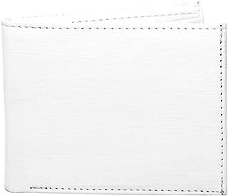 SOMIYAMen White Artificial Leather Wallet (3 Card Slots)