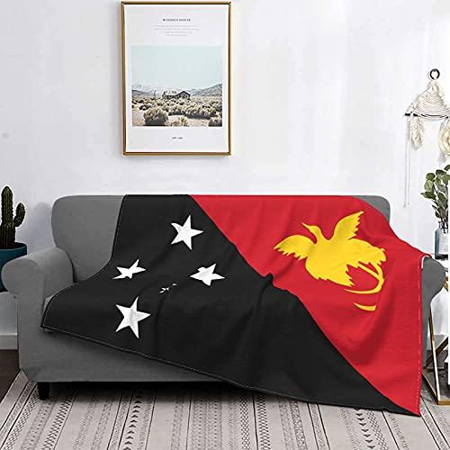 Kuscheldecke Flauschige Microfaser ,warm FlanellFlauschige Couch Flagge von Papua-Neuguinea Wohnzimmerdecke /Couchdecke , Samtdecke ,Feeling Kuschel Decke 150 cm x125 cm,Bedruckt