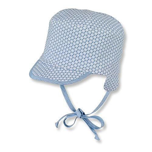 Sterntaler Wende-Schirmmütze für Jungen mit Bindebändern und Ohrenklappen, Alter: 6-9 Monate, Größe: 45, Hellblau (Himmel)
