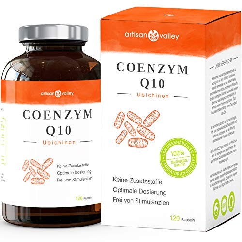 Coenzym Q10 ⋅ Hochdosiert COQ10 ⋅ 200mg Q10 pro Kapsel ⋅ 120 Vegane Kapseln ⋅ Deutsche Herstellung ⋅ Zufriedenheitsgarantie