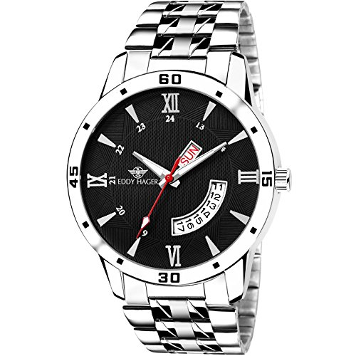 Eddy Hager Analogue Black Dial Men\'s Watch - EH-219-BK Rs. 279  ( 89%  Discount).
