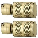 FAST Zinc Curtain Bracket, Standard, Brass, Gold, Yellow, Wooden, Pack of 2