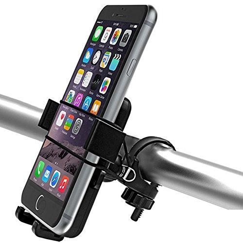 WAZA Telefoonhouder voor op de fiets, MTB, van ABS, motorfietshouder, maandag aan het fietsstuur, 360 graden draaibaar, anti-shake, universele breedte 6-9 cm