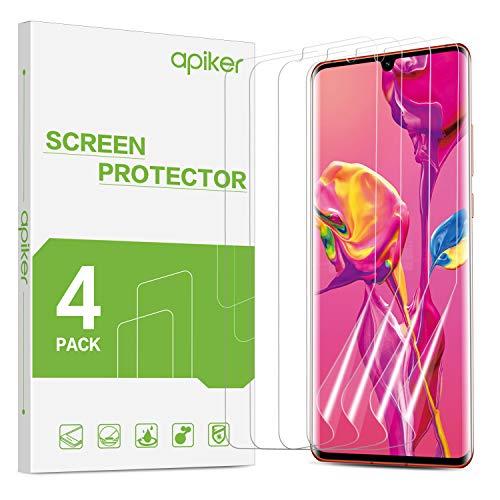 apiker 【4 Stück】 Schutzfolie für Huawei P30 Pro, Huawei P30 Pro Displayschutzfolie - [Anti-Kratzen], [Anti-Öl], [Anti-Bläschen], [Hohe Definition], [Hohe Empfindlichkeit]
