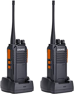 Walkie Talkies 5W Ham Radio Long Range Olywiz-813 Two Way Radio Rechargeable 1400MAh Li-ion Battery IP 54 Protection Outdoor Riding Using 2 Pack
