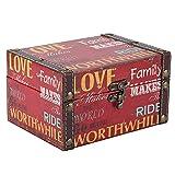 Caja de madera vintage, caja de cofre del tesoro de estilo europeo, organizador de joyería, accesorio fotográfico, adornos de escritorio(Caja de almacenaje)