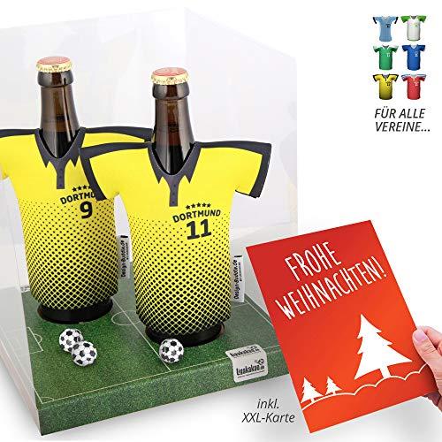 Weihnachts-Geschenk | Der Trikotkühler | Das Männergeschenk für Dortmund-Fans | Langlebige Geschenkidee Ehe-Mann Freund Vater Geburtstag | Bier-Flaschenkühler by Ligakakao