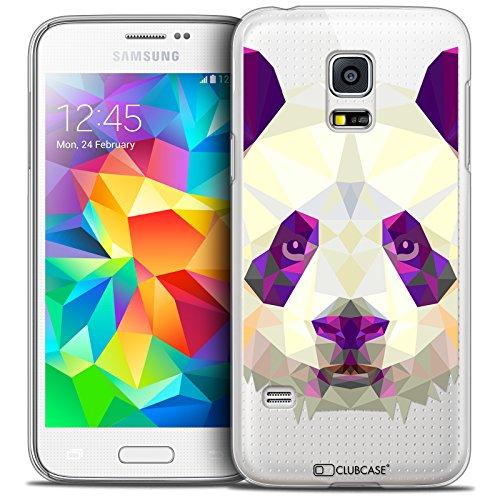 Cover per Samsung Galaxy S5 Mini, Ultra Sottile Polygon Animals Panda