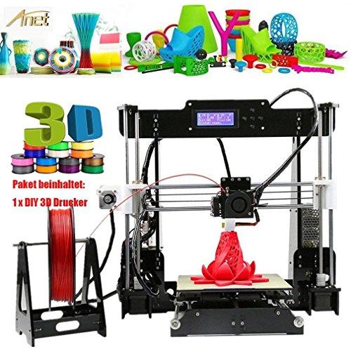 A8 Stampante 3D Kit, LCD Prusa ABS PLA Filamento Acrílico Stampante, Stampante Desktop 3D Facile da Montare