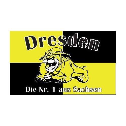 FRIP - Bulldogge Dresden Fussball Fahne Flagge Grösse 1,50x0,90m