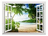 wall26 Removable Wall Sticker/Wall Mural (36'x48', Tropical Beach)