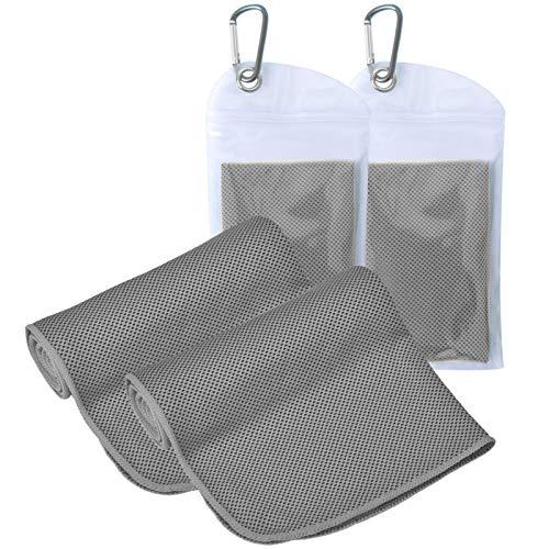 Kühlendes Handtuch (120 x 30), [2 Stück] Eishandtuch, weiches atmungsaktives kühles Handtuch, Golf-Handtuch, Mikrofaser-Handtuch für Sport, Laufen, Fitnessstudio, Workout, Camping, Fitness, Workout