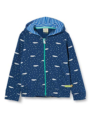 loud + proud Jungen Jacket Allover Print Organic Cotton Jacke, Blau (Ultramarin Ul), (Herstellergröße: 74/80)