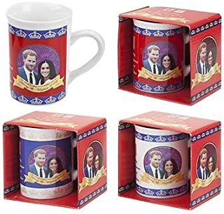 Toyland® Pack Of 2-2018 Royal Wedding Slim Mugs - Harry & Megan Wedding Souvenirs - Royal Family Memorabilia