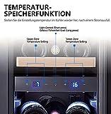 Kalamera Weinkühlschrank 2 Zonen für 19 Flaschen,Kompressor,65 Liter,Temperaturzonen 5-10°C/10-18°C,Edelstahl Glastür,KRC-75BSS - 3