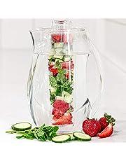 Grunwerg FI-200 dzbanek do infuzji na owoce, akryl, bezbarwny, 27,5 x 15,5 x 15,5 cm