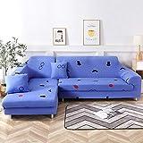 Allenger Funda de Sofá Poliéster,Funda de sofá elástica Antideslizante, Funda de cojín de sofá Universal para Todas Las Estaciones, Funda a Prueba de Polvo para Muebles sofá-Color 19_190-230cm