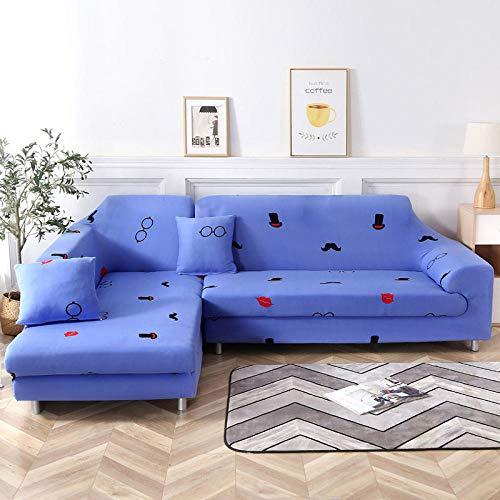 Elástica Cubierta de Asiento,Funda de sofá elástica Antideslizante, Funda de cojín de sofá Universal para Todas Las Estaciones, Funda a Prueba de Polvo para Muebles sofá-Color 19_145-185cm