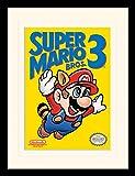 1art1 Super Mario - Bros. 3, NES Cover Gerahmtes Bild Mit