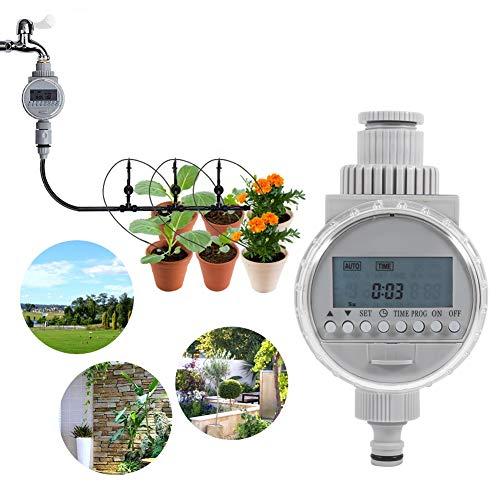 Haokaini Solar-Selbstbewässerungstimer, energiesparender wassersparender Bewässerungs-Controller mit geführter Anzeige für Hausgarten-Bewässerungs-Gewächshaus-Anlage