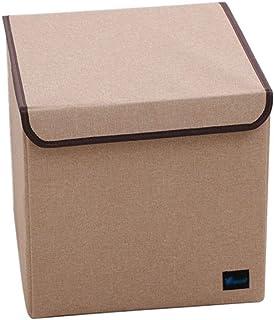 Boîtes de rangement pliables avec couvercle amovible, cubes de rangement en tissu avec poignées, parfait for la maison, ar...