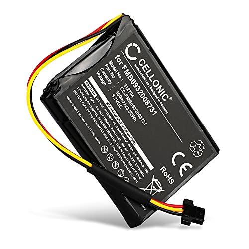 CELLONIC® Batería de Repuesto FMB0932008731 AHA11110005 6027A0089521 Compatible con Tomtom Go 500 (2013), Go 510 (2013), Go 50 / Start 50, 950mAh Accu GPS Pila sustitución Battery