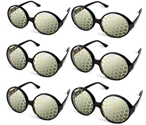 6 Pairs Bug Eyes Glasses Fly Glasses Halloween Bug Costume Glasses Yellow Party Favors