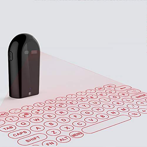 Teclado Láser Virtual Ratón Láser Virtual Teclado De Proyección Láser Bluetooth Inalámbrico Mini Teclado Láser Y Mouse Control Remoto Por Infrarrojos Potente Adecuado Para Teléfonos Móviles Y