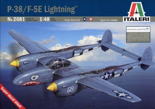 タミヤ イタレリ 1/48 飛行機シリーズ 2681 1/48 ロッキード P-38/F-5E ライトニング 38681 プラモデル