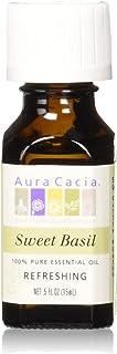 Aura Cacia Essential Oil, Sweet Basil, 0.5 Ounce (Pack of 24)