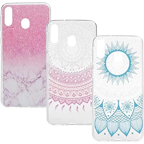 KRjcsfhy [3 unidades] iPhone 13 Pro Max caso, Totem mariposa suave TPU delgado híbrido cristal floral transparente a prueba de golpes, absorción de golpes, cubierta protectora para iPhone 13 Pro Max
