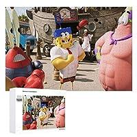 SpongeBob SquarePants ジグソーパズル 1000ピース diy 絵画 学生 子供 TOYS Jigsaw Puzzle 木製パズル 溢れる想い おもちゃ 幼児 アニメ 漫画 プレゼント エンスカイ 壁飾り 無毒無害 ギフト クリスマス