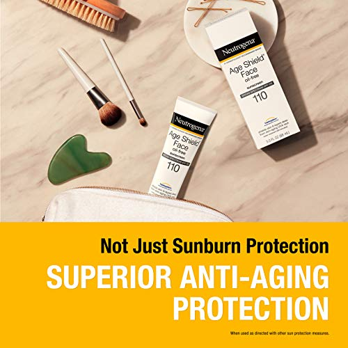 Neutrogena Age Shield Face Lotion Sunscreen with Broad Spectrum SPF 110, Oil-Free & Non-Comedogenic Moisturizing Sunscreen to Prevent Signs of Aging, 3 fl. oz