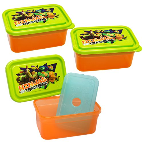 Zak! (3 Pack) Teenage Mutant Ninja Turtles 13oz Food Storage Containers & Freezer Packs With Lids