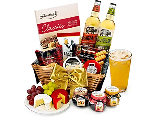 Trafalgar Hamper With Cider - Hand Wrapped Gourmet Food Basket, in Gift Hamper Box