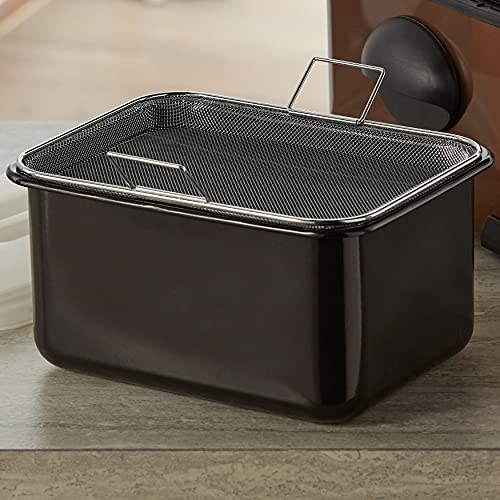 BrylaneHome 5-Qt. Oil Tank With Filter, Black
