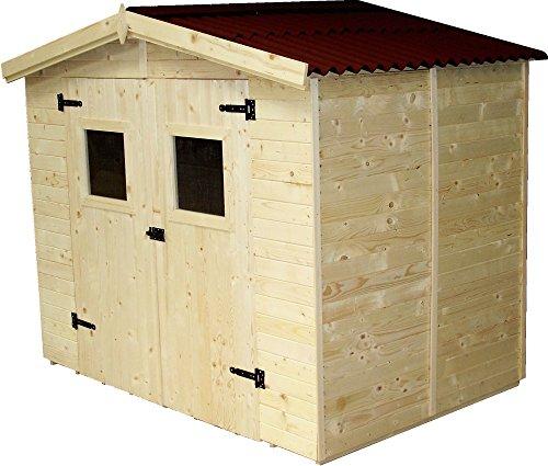 FORESTA - Casetta a pannelli ED2416.01, 240x160xh210cm - disponibile con legnaia, Senza legnaia